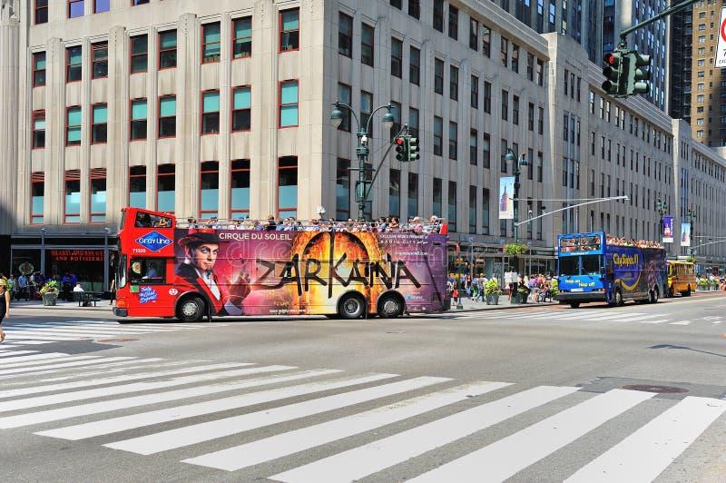 Download Bus Tour Driving Through Manhattan Midtown Editorial Photography - Image of traiif, tour: 20106087