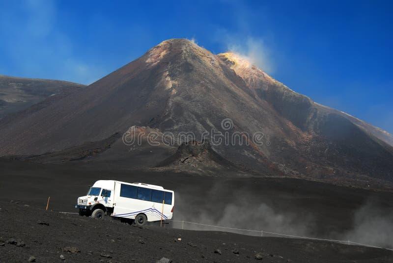 Bus touristique de l'Etna image libre de droits