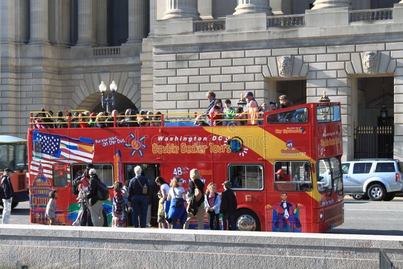 Bus touristique de Washington DC images libres de droits