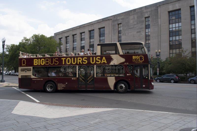 Bus touristique de Washington DC photographie stock libre de droits