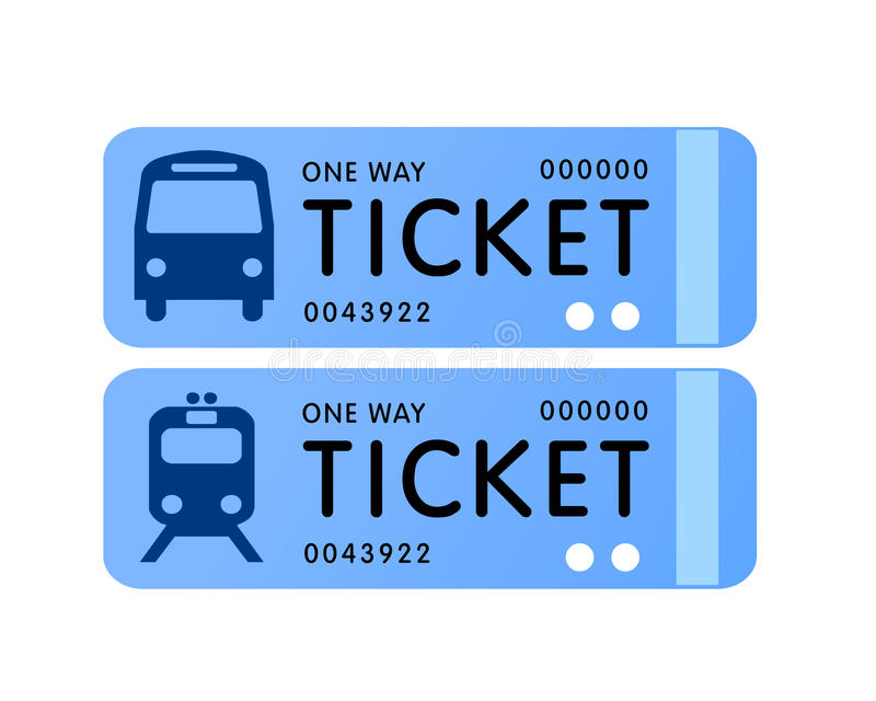 Bus and train ticket vector vector illustration