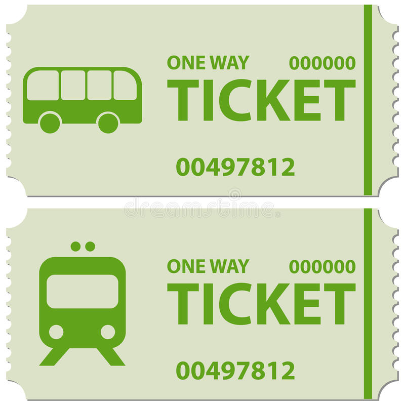 Download Bus and train tickets stock image. Image of railway, green - 44354581
