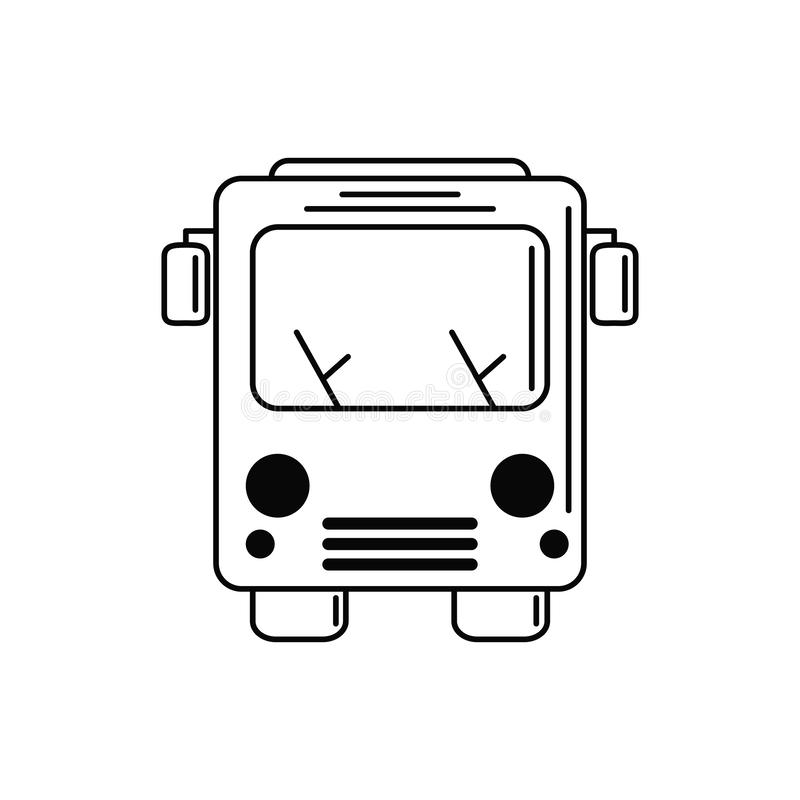 Bus transport vacation travel icon stock illustration