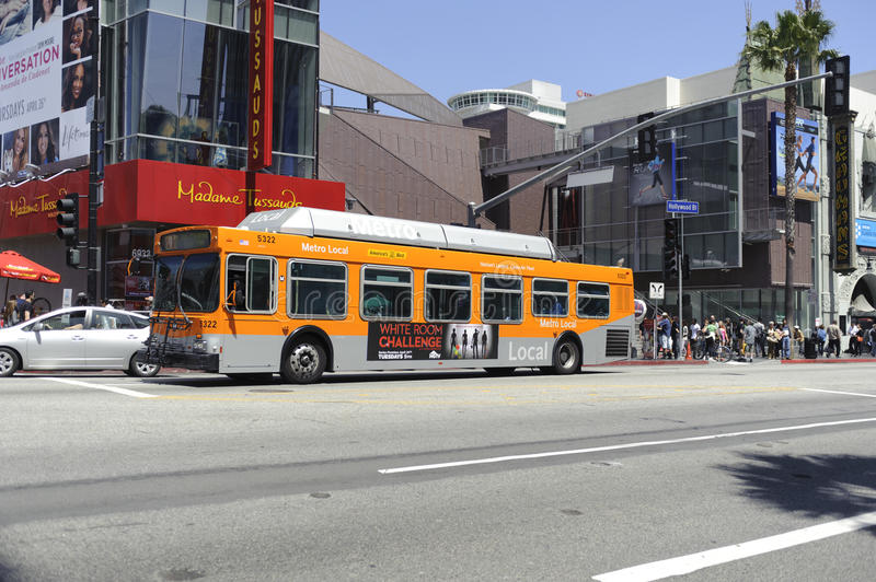 Bus Transportation In Los Angeles Editorial Stock Image
