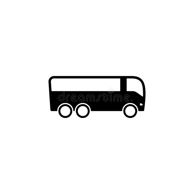 Bus, transtport icon. Simple glyph vector of universal set icons for UI and UX, website or mobile application. On white background stock illustration