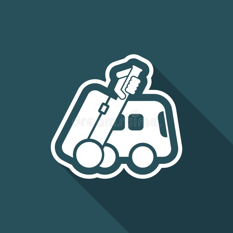Bus travel icon stock illustration