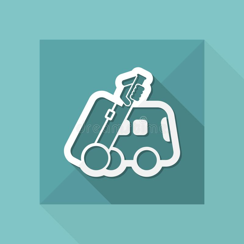 Bus travel icon royalty free illustration