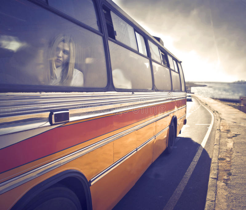Download Bus trip stock image. Image of autobus, woman, window - 23828379