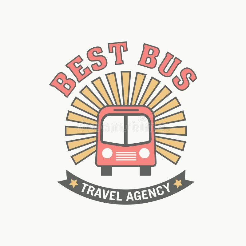 Free Bus Trip And Trvel Tour Badge Logo Stock Image - 92276631