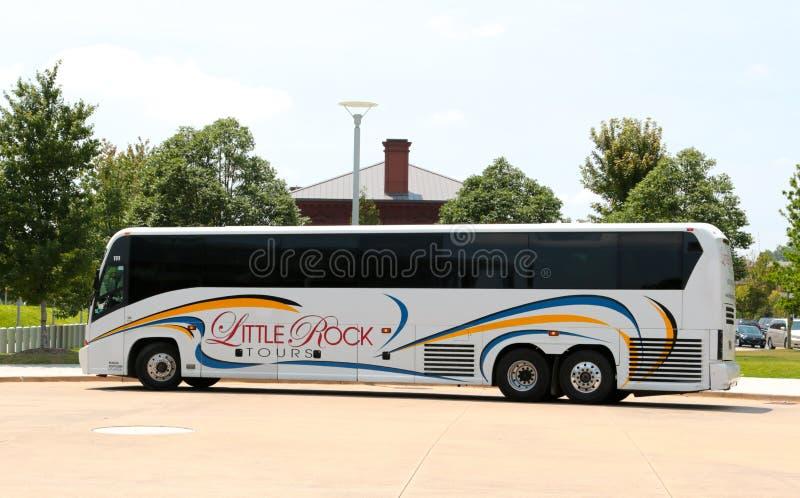 Bus turístico de Little Rock Arkansas foto de archivo libre de regalías