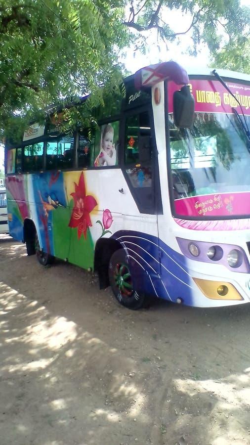 Bus turistico Colourful fotografie stock libere da diritti