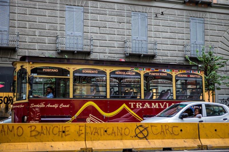 Bus turistico di Napoli immagine stock