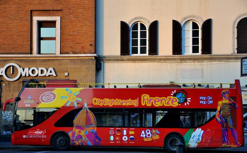 Bus turistico in Italia   fotografie stock libere da diritti