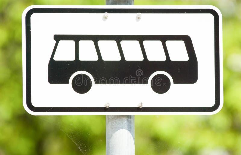 Bus undertecknar royaltyfria bilder