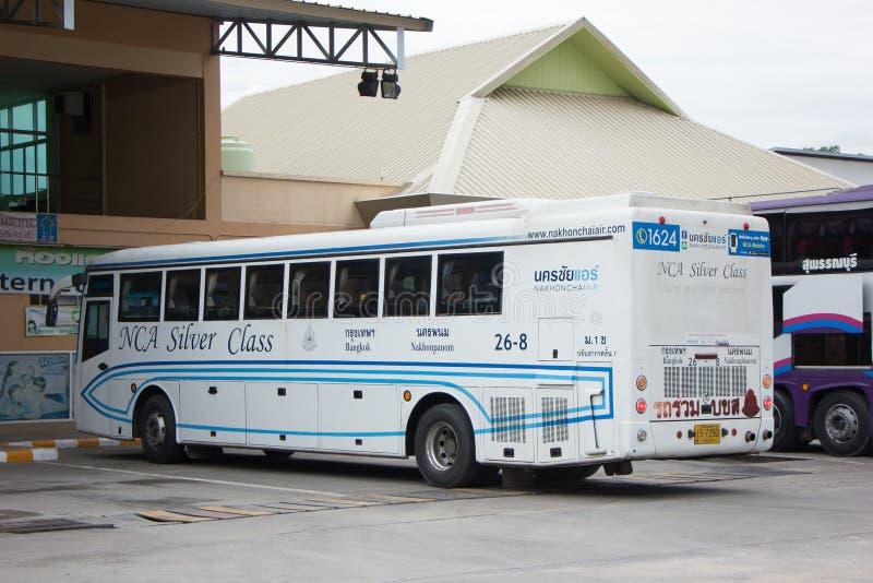 Bus van Nakhonchai-lucht Route Bangkok en Nakhonpanom royalty-vrije stock afbeelding