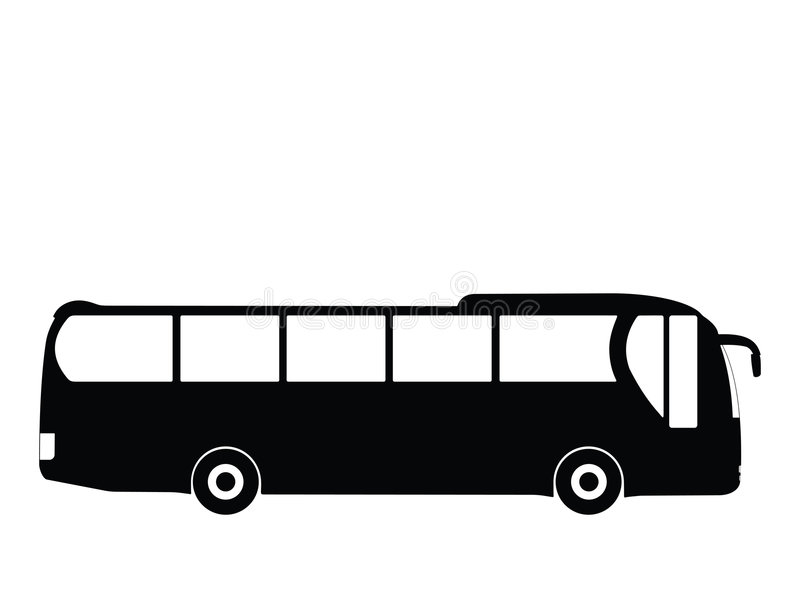 Bus vector royalty free illustration