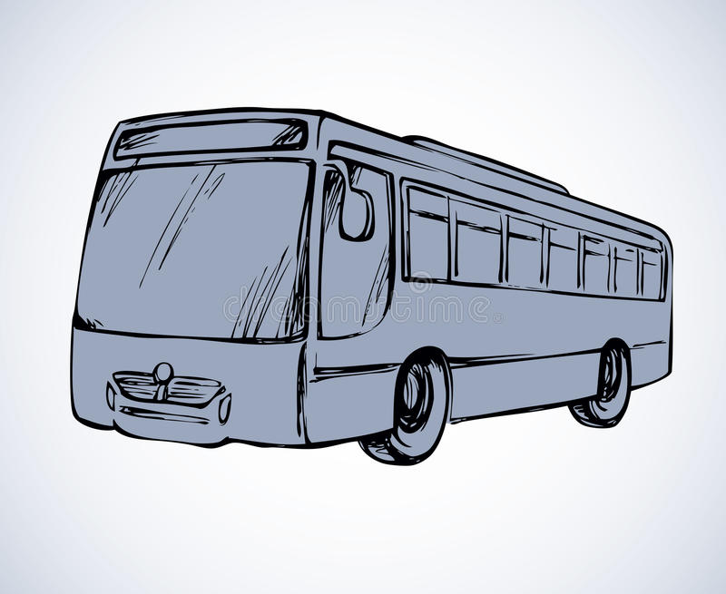 Bus. Vector Drawing Stock Vector. Illustration Of Contour