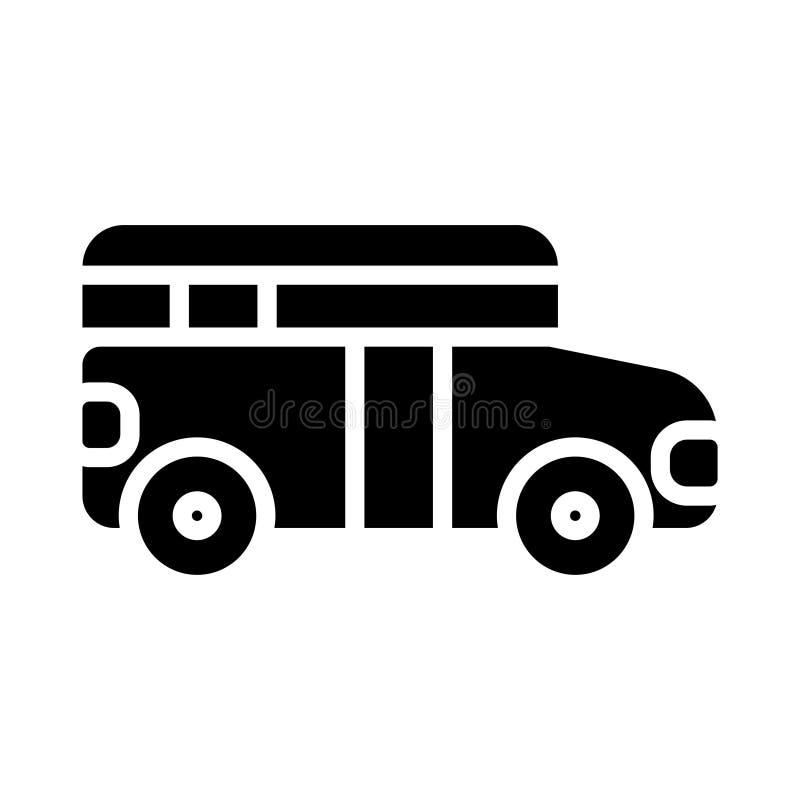 Bus glyph flat vector icon vector illustration