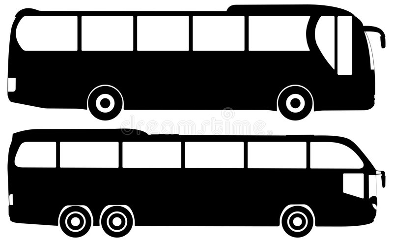 Bus vector set royalty free illustration