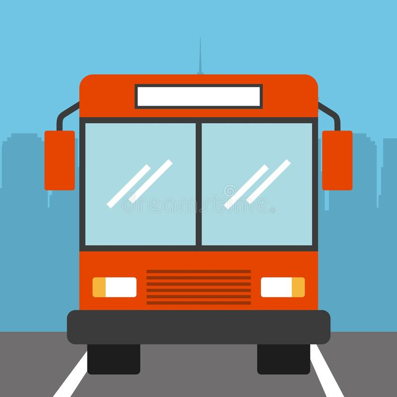Bus vehicle icon. Parked bus vehicle icon.colorful design. illustration vector illustration