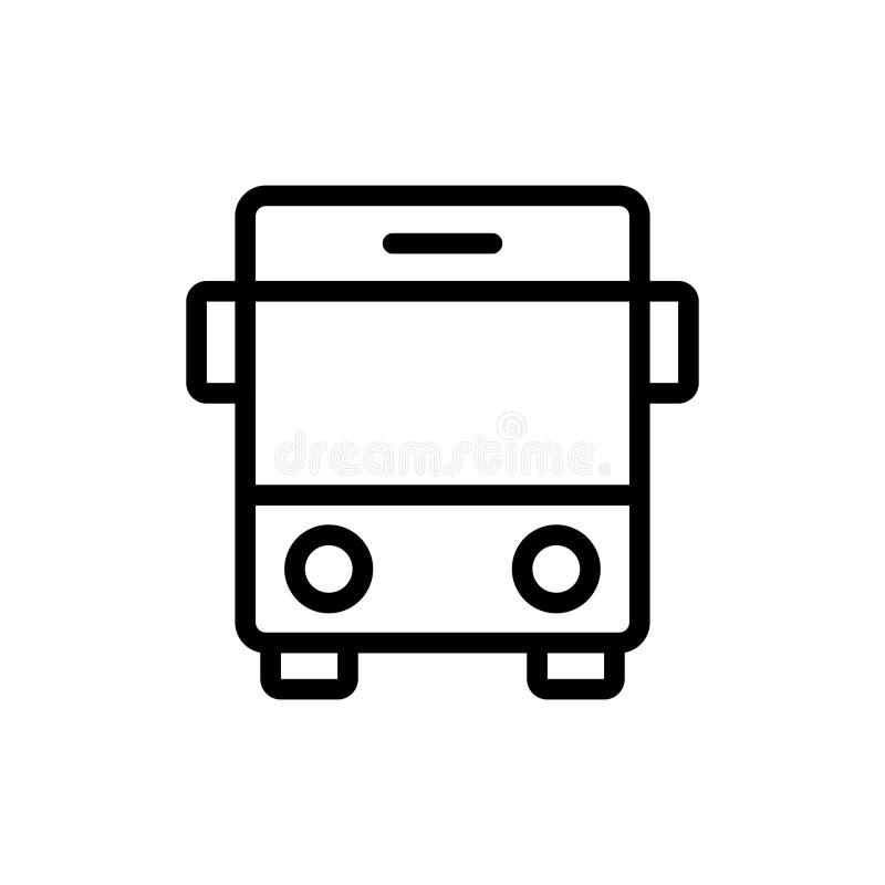 Bus vlak pictogram stock illustratie