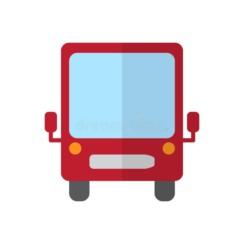 Bus vlak pictogram, gevuld vectorteken, kleurrijk die pictogram op wit wordt geïsoleerd stock illustratie
