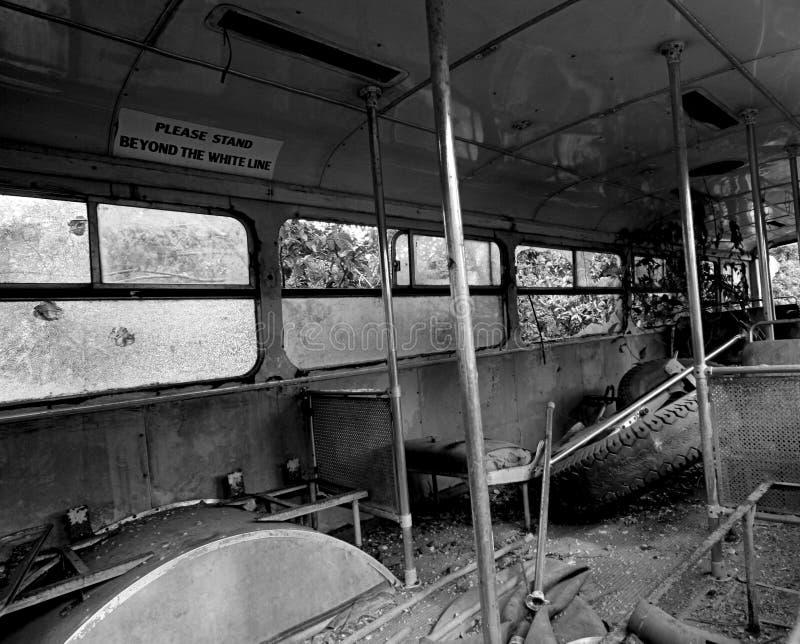 Bus wreck royalty free stock photo