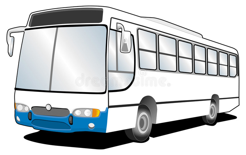 Bus-Linie Kunst 01 vektor abbildung