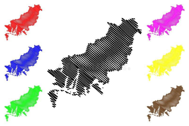 Busan översiktsvektor vektor illustrationer