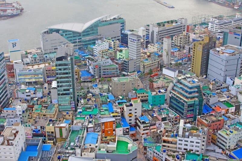 Busan cityscape royaltyfri bild