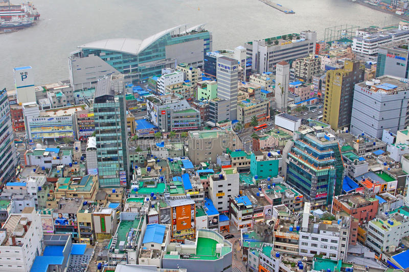Busan Cityscape. South Korea Busan Cityscape and Harbour royalty free stock image