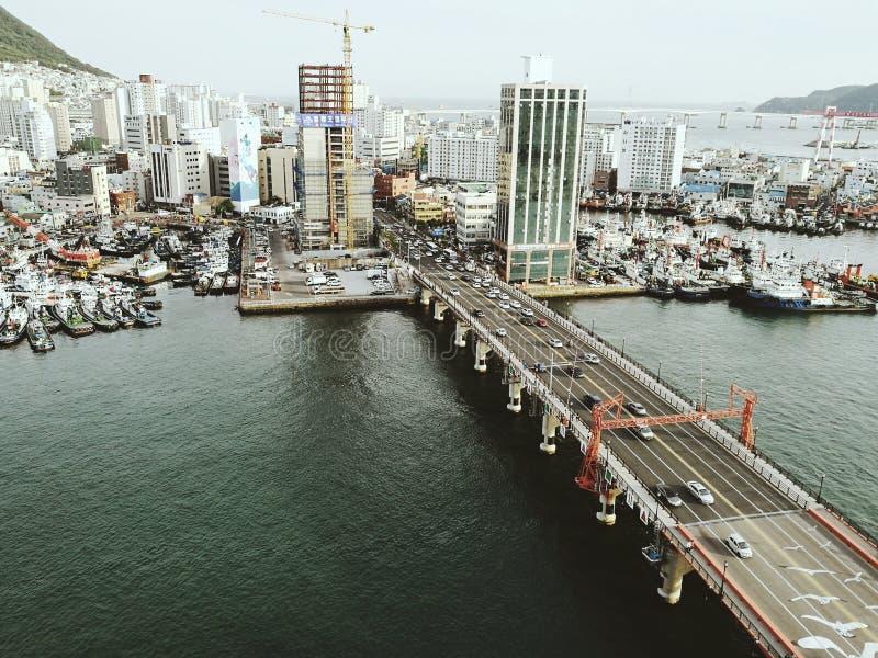 Busan, Corée du Sud, la vie de ville images stock