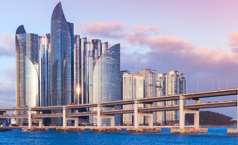 Busan, Coreia do Sul Arquitetura da cidade de Haeundae imagens de stock royalty free