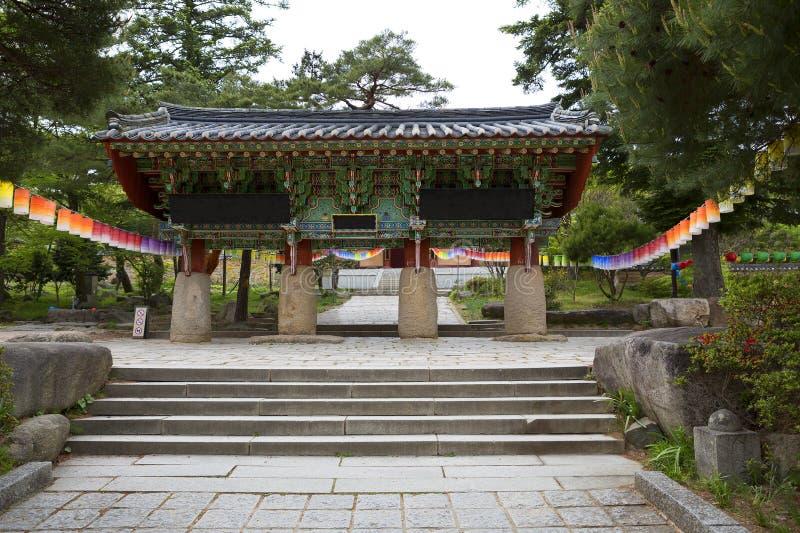 Busan, de Tempelpoort van Zuid-Korea Beomeosa stock foto
