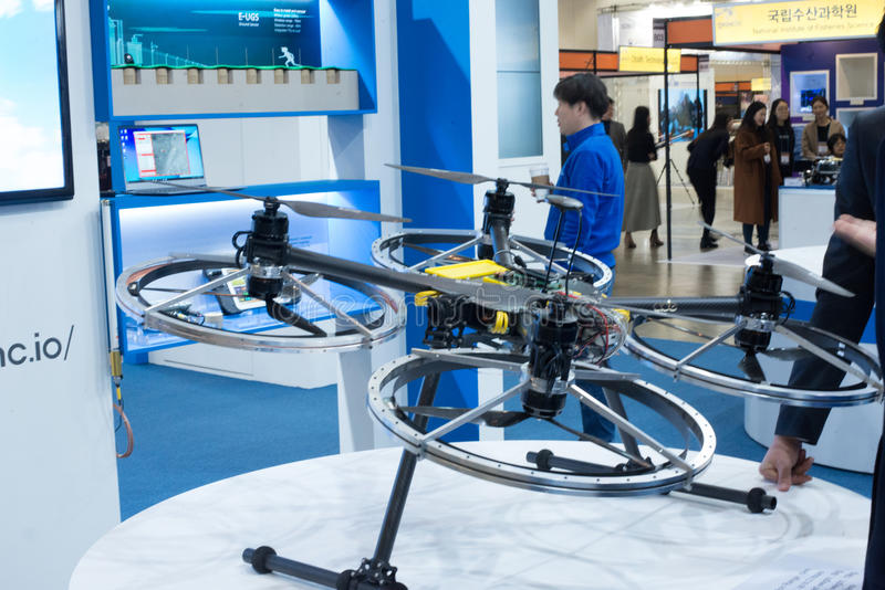Busan Drone Show South Korea, first editorial news royalty free stock image