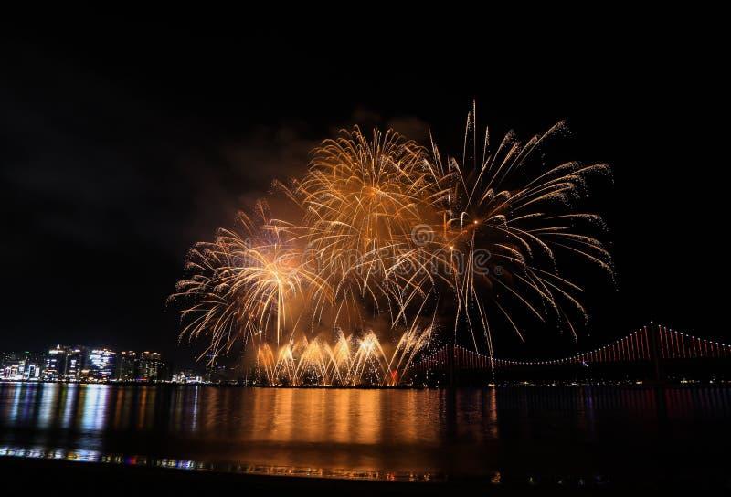 Busan fireworks Festival, November , 2019 royalty free stock photo