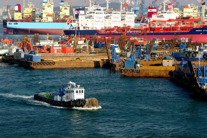 Busan-industrieller Kanal lizenzfreie stockfotos