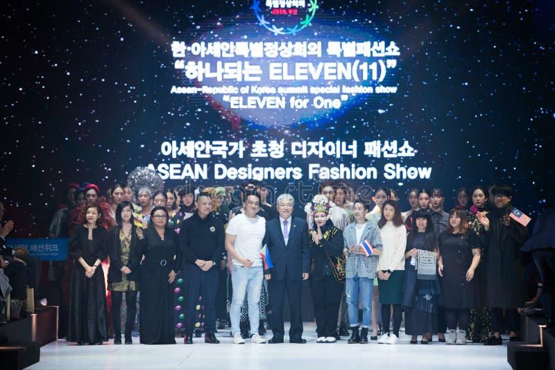 Model walks in Fashion Show of 2019 ASEAN Korea royalty free stock photos