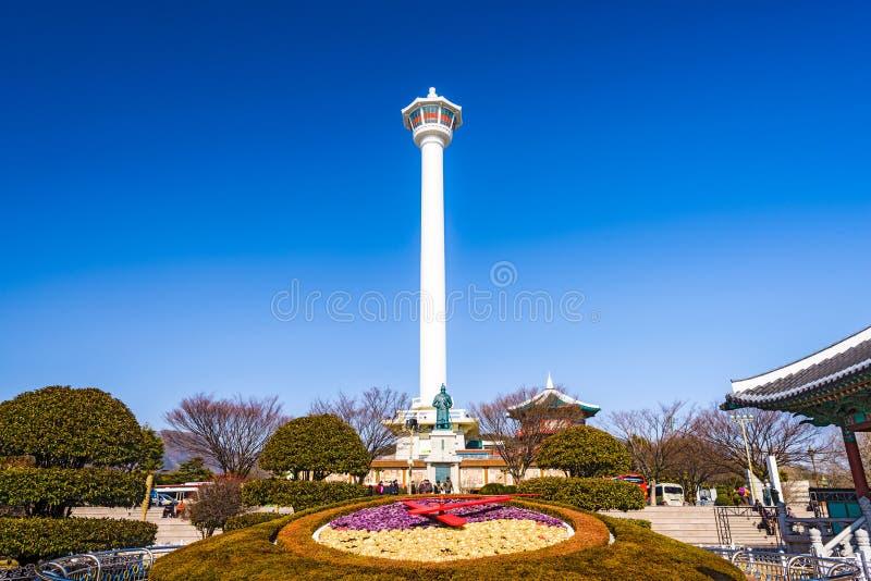 Busan, Południowego Korea wierza obrazy stock