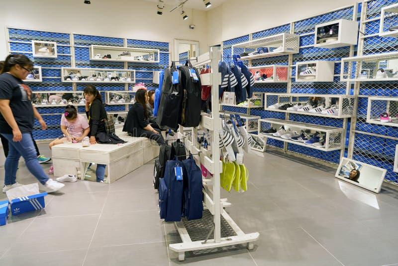 Adidas store editorial stock photo