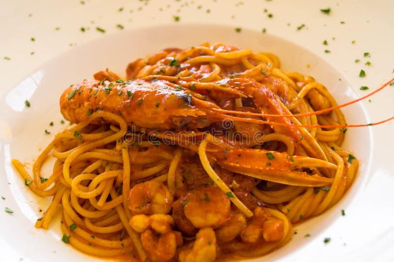 Busara alla спагетти стоковая фотография
