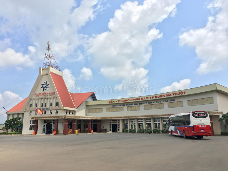 Busbahnhof Buon MA Thuot, Dak Lak Provinz, Vietnam stockbilder