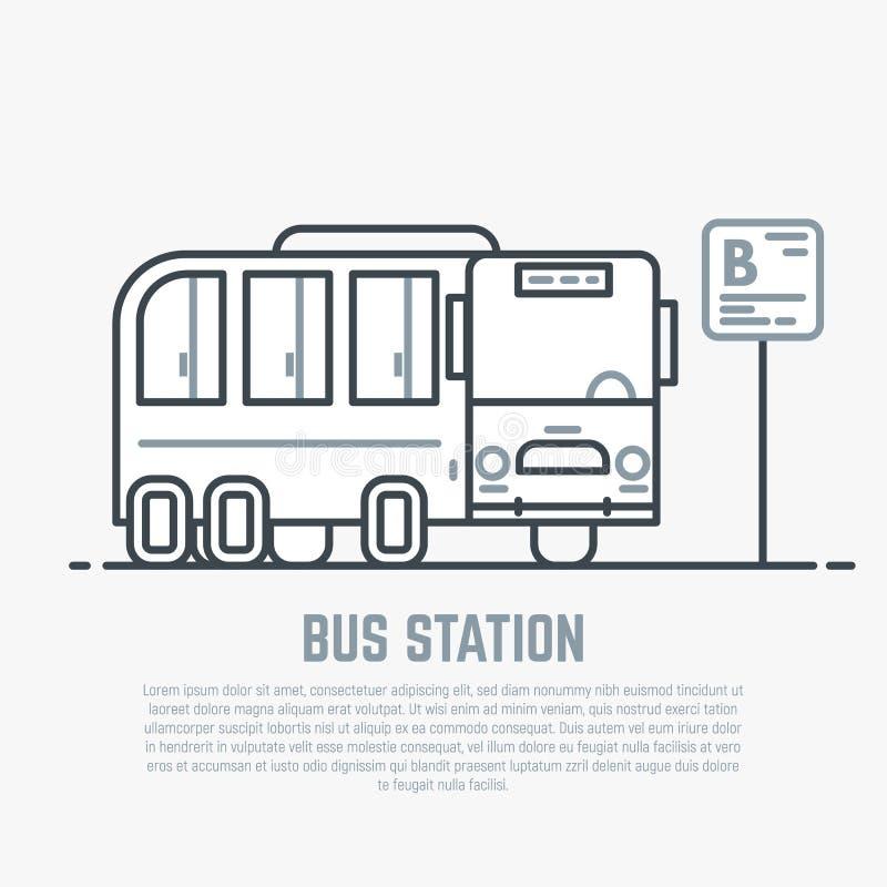 Busbahnhof Zeilendarstellung vektor abbildung
