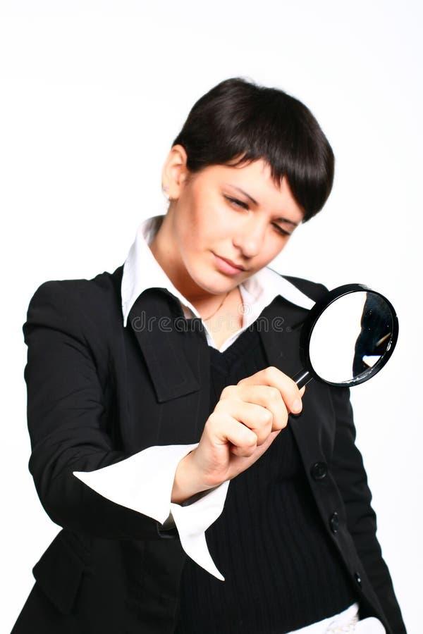 Busca da menina do negócio imagem de stock royalty free