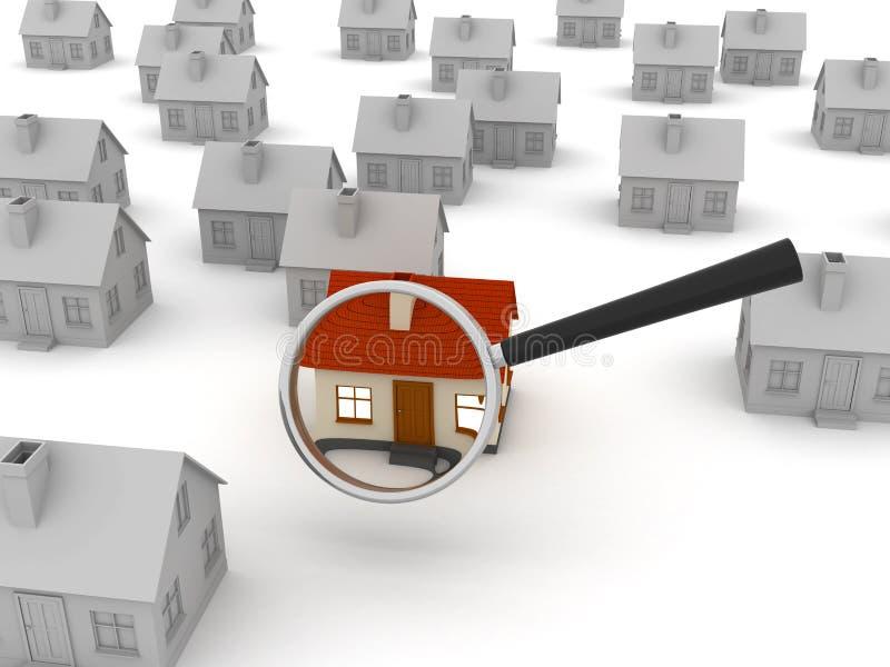 Busca de casa ilustração do vetor