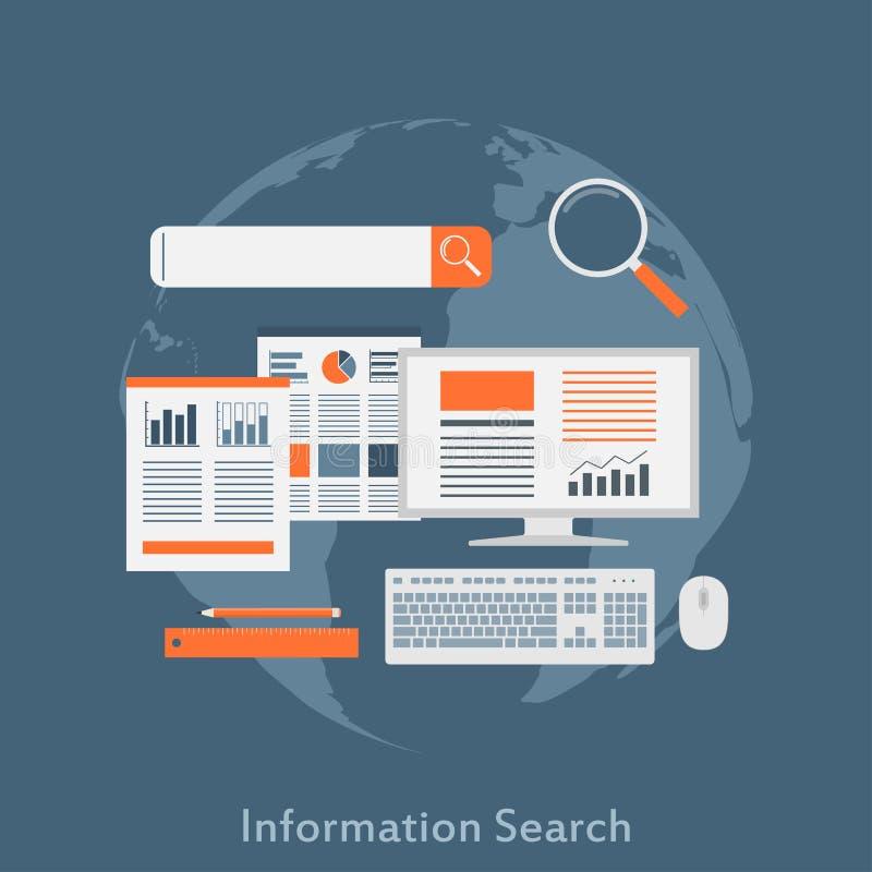 Busca de informação ilustração royalty free