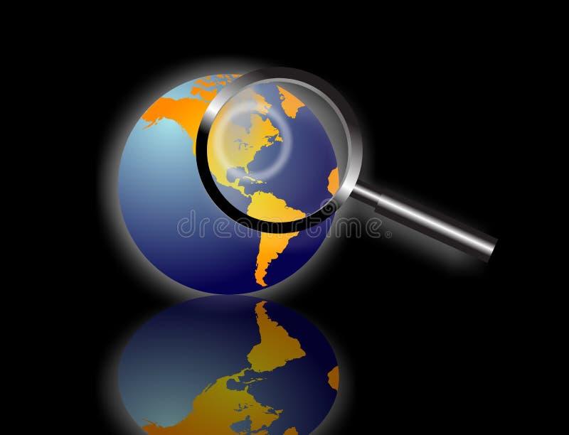 Busca de informação global ilustração do vetor