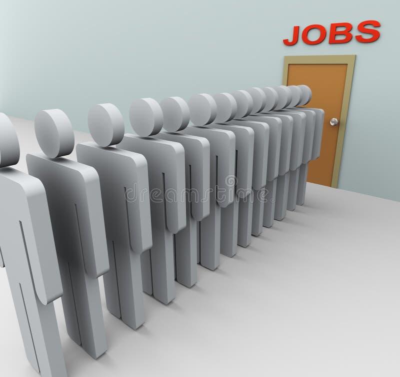 busca de trabalho dos homens 3d ilustração stock
