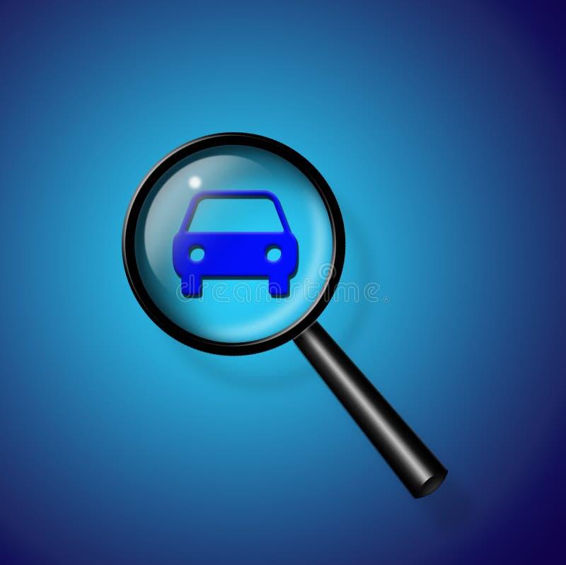 Busca do carro ilustração stock