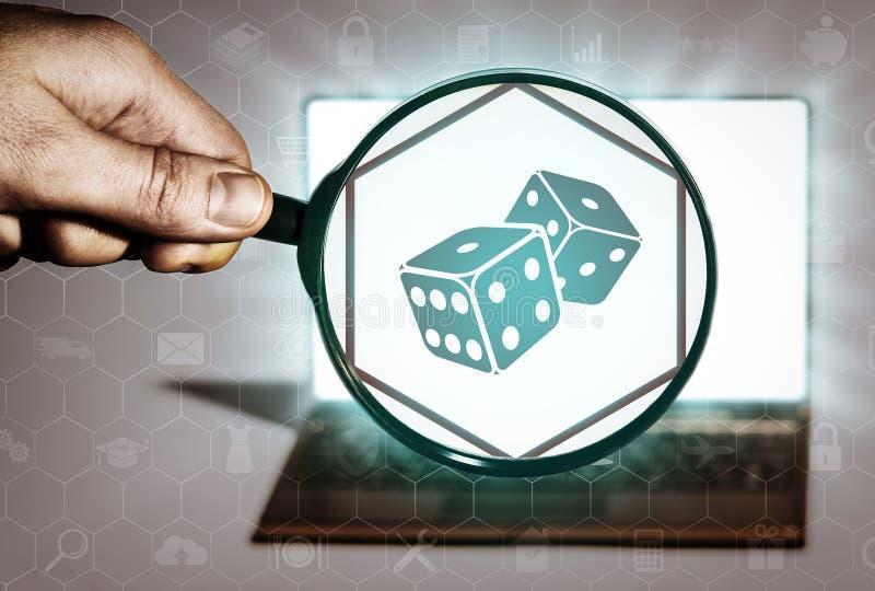 Busca do casino, jogando, fortuna ilustração do vetor